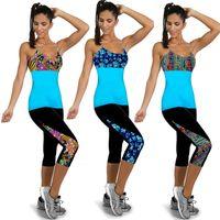 Wholesale Fashion Sport Printed Leggings Yoge Pants Spring Leggins Running Tights Slim Comfortable Plus Size Women Clothes