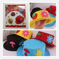 crafts for children - Handmade DIY Craft for Children Kids Non woven fabric Hat Baby Early Learning Educational toys boys girls gift DIY HAT