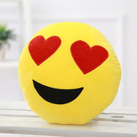 Wholesale New Soft Emoji Smiley Emoticon Yellow Round Cushion Pillow Stuffed Plush Toy Doll minions Frozen teddy