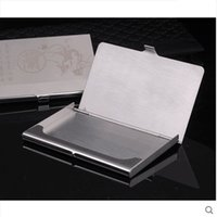 american standard steel - Exquisite Business Card Holder Business Man Stainless Steel Pocket ID Credit Card Holder Case Box