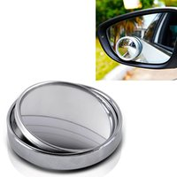 Wholesale 2015 High Quality Wide Angle Convex Car Auto Blind Spot Round Stick On Side View Rearview Mirror