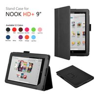 Cheap Litchi Style PU Leather Slim Smart Cover Stand Case For Barnes Noble Nook HD 9 Tablet + Screen Touch Stylus As Gift Free Ship