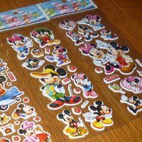 Wholesale Mickey Mouse Minnie D PVC Anime Cartoon Stickers Kids Toys Cartoon Craft Scrapbook Children Classic Toys baby Stickers