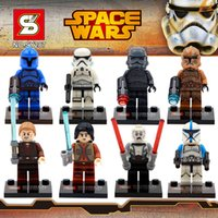 Wholesale SY287 Star Wars Stormtrooper Minifigures Building Blocks Sets Model Toys Clone Trooper Educational Toys For Children