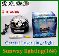 usb rgb - 2016 LED dmx laser light Crystal magic ball stage lighting colors modes USB MP3 disco light x15c remote controller
