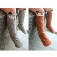 baby socks wholesale - Baby Cotton Fox Socks Warm Animal Leg Warmers Baby Girls Leggings Children Socks Fox Stereo Ear Socks New Arrival