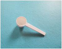 Libre 5g envío gramo 10ML plástico HDPE cucharada Cuchara herramienta para la alimentación líquida de la leche en polvo médica de medición - 200pcs / lot blanco OP858