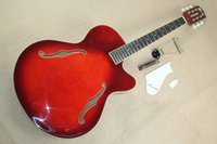 gibson - The Hot Sale Factory Customzied Semi finished and Semi hollow Electric Guitar with the Wine Red Body