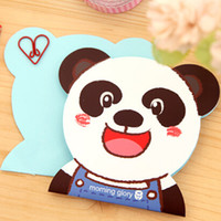 adhesive scrapbook paper - pieces Panda Bear Mother Bear Father Face Shape Scrapbook Animal Head Notebook Cute Stationery Diary scrapbook paper