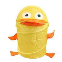 Wholesale Folding Cartoon Animal Duck Storage Bucket Dirty Clothes Sundries Basket K5BO