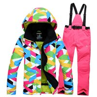 ski suit women - new style women ski suit set jackets and pants underwear outdoor single skiing set windproof thermal