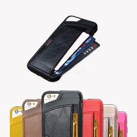Wholesale New Brand Designer Cases Ultrathin Hybird TPU Leather Cover For Apple Iphone s s Plus Inch Luxury Wallet Card Holder