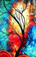 canvas picture frames - Personalized Paintings Custom Made Canvas Picture Set Colorful Tree Free Combination Wall Art For Hotel Home Room Decoration NO FRAME