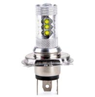 auto headlight lens - H4 LED High Power W Daytime Running Light headlight fog light Auto Project Lens Parking Light For Car Motorcycle V V