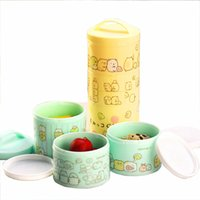 baby food japan - Japan layer mini fruit snack lunch box for children baby food storage portable microwave