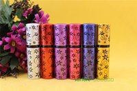 Wholesale 10ml hexagonal flower perfume Mini Portable Aftershave Makeup Perfume Empty Bottle Spray Atomizer