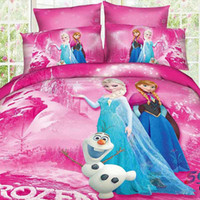 single bed - Hot selling D Cartoon Bedding set Twin Full Queen size Cotton Children Bed Linen for Girls Boys Kids Single double Bed