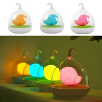 Wholesale Creative Lovely Birdcage LED Rechargeable Touch Dimmer Night Light