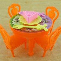 Wholesale 2014 New Portable Pretend Toy Set Kawaii Kids Play House Toy Plastic Table Chair Furniture Toys