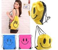 Wholesale 2015 HOT Smile Beam port package Swimwear Bag Travel pouch Swim Smile bag For Bath towel Swimwear Goggles