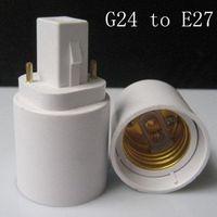 Wholesale New G24 to E27 Socket LED Halogen CFL Light Base Converter Extend Adapter
