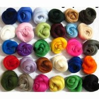 Wholesale 36 Colors Merino Wool Fibre Roving For Needle Felting Hand Spinning DIY Fun Doll Needlework