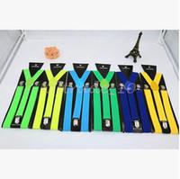 Wholesale 1200pcs CCA3161 High Quality Candy Color Unisex Adjustable Pants Y back Suspender Brace Elastic Clip on Belt Adjustable Braces Suspenders