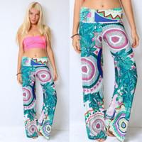 high waist pants - Women Lady Fashion Floral Print Harem Pants Loose Elastic Waist Trousers Casual Clothings