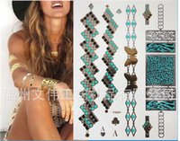 face stickers - Necklace Temporary Tattoos Body Tattoo Waterproof Tattoo Sticker Metallic Tattoo Tattoo Jewelry Body Art