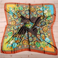 big dye - 2016 Spring New Arrival France Euro Brand Style Women Fashion Silk Polyester Square Scarf Big Size cm Silk Shaw D009y