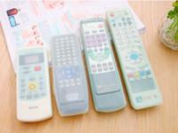 Bon Marché Silicone couvre pour les télécommandes-TVair condition Dust Télécommande Covers 10pcs gros veste imperméable à la poussière 4 taille peut être choisir