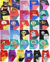 party costumes - Superhero cape CAPE MASK cm back Super Hero Costume for Children Halloween Party Costumes for Kids Children s Costume