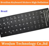 Wholesale FreeShipping Brazilian keyboard stickers High Definition Brazil keyboard protect stickers laptop desktop frosted order lt no track