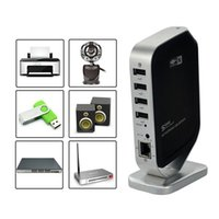 wireless usb hub - Portable Networking USB Print Server Printer Share USB HUB Devices Mbps Home Office Ethernet and Wireless Network