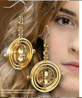 Wholesale harry potter earring time turner earrings vintage retro rotating hourglass drop earrings Hermione Granger