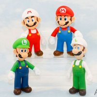 Wholesale Mario Luigi Action Figures PVC Mario Bros Luigi Dolls Figure Toys Collection Toys for Children Christmas Gift