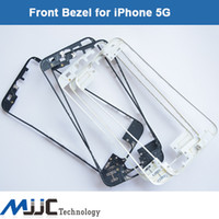 Wholesale Black White Front Bezel with liquid glue LCD Middle Frame Housing Parts Chrome Screen Holder for iPhone G Frame