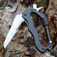 climbing wall - Hot Sales Hiking Survival Rock Climbing Gear Folding Knife Multi Function Carabiner Tools MA0079 salebags
