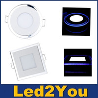 acrylic glass panel - Acrylic W W W Led Panel Lights Ceiling Lighting Warm Cool White Blue Led Recessed Downlights For Cabinet Lighting AC V