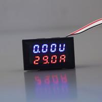 Wholesale Red Blue LED DC V A Dual Display Voltage Meter Digital LED Voltmeter Ammeter ampermeter Panel Amp Volt Gauge Hot Sale