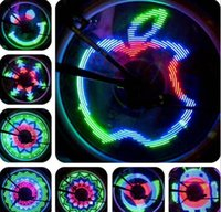 Wholesale Cycling Bicycle Bike Wheel Spoke Led Colorful Light Lamps DIY Programmable Bicycle Accessories Led Bike Valve Light Lighting