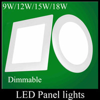 Wholesale Cree Led Panel Lights Dimmable W W W W Led Recessed Downlights Lamp Warm Natural Cool White For Home Decor MBD002