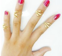 Band Rings american indian names - Knuckle Rings Europe big names Bone and joint Eagle Claw Rings Alloy Plating Gold Silver Rings opening Personalized couple rings