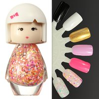Cheap 1 Pcs 7ml Nail Art Polish Acrylic Neon Tip Bright Glitter Manicure Nails Varnish Tools Cute Baby Doll 7 Color