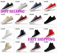 Yes Pencil Easy to Wear DORP SHIPPING NEW size35-45 New Unisex Low-Top & High-Top Adult Women's Men's Canvas Shoes 13 colors Laced Up Casual Shoes Sneaker shoes