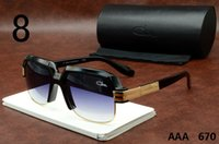 al sales - Caz al Eyeglasses Sunglasses Hot Sale New Mens Plank Sun Glasses Gradient Brand Designer Luxury Polarized Sun Glasses Black Blue