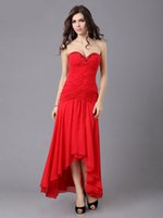 Cheap 2015 new bridesmaid dress Bra toast clothing red sexy evening dresses short in front long skirt evening dress long section