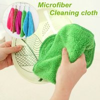 Wholesale 5 Hanging Microfiber cleaning cloth Kitchen Washing towel Dishcloth kitchen accessories Novelty household