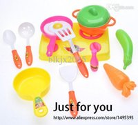 plastic kids garden tool set - New Set Toy Kids Child Kitchen Cooking Tools Toy Pretend Play Role Play Toys Educational Toy Brinquedos In Mother Garden