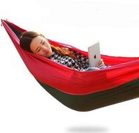 Wholesale 260x130cm Outdoor Double Hammock Camping Survival Hammock Parachute Cloth